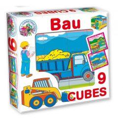 Gyerek puzzle - Építkezős mesekocka