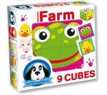 Gyerek puzzle - Farm állatai mesekocka
