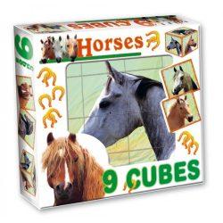 Gyerek Puzzle - Kirakósok - Mesekocka lovas 9db Dohány Toys