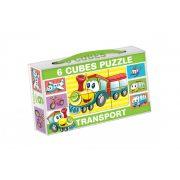 Gyerek Puzzle - Kirakósok - Mini mesekocka 6 db repülő