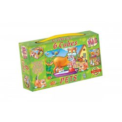 Gyerek Puzzle - Kirakósok - Mesekocka Állatok 6db Dohány Toys