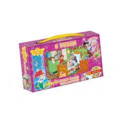 Gyerek Puzzle - Kirakósok - Mesekocka Rajzfilmes 6db Dohány Toys