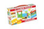 Gyerek Puzzle - Kirakósok - Mesekocka járműves 12db