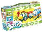 Gyerek Puzzle - Kirakósok - Mesekocka szállítás 12 db