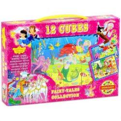 Gyerek Puzzle - Kirakósok - Mesekocka rajzfilm 12 db Dohány Toys