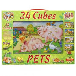 Puzzle kirakók - Puzzle kakasos képkirakó mesekocka 24 db