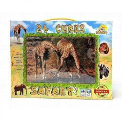 Puzzle, kirakók - Gyerek puzzle - Mesekocka, szafari, 24 db