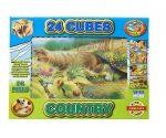 Puzzle, kirakók - Gyerek puzzle - Mesekocka, tanyasi állatok, 24 db
