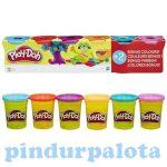 Kreatív hobby - Gyurmák - Play Doh 6 tégely gyurma világos színekkel