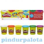 Kreatív hobby - Gyurmák - Play Doh 6 tégely gyurma alap