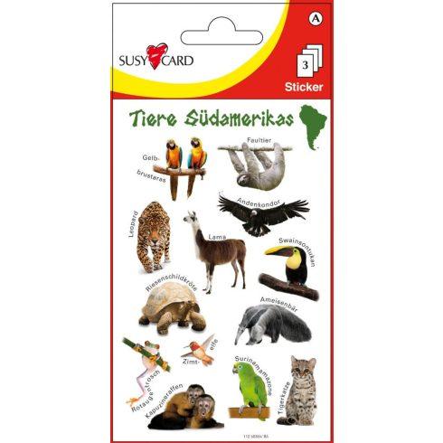 Írószerek - Iskolaszerek - Matricák - Dél-Amerika állatai