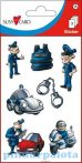 Írószerek - Iskolaszerek - Matricák - Rendőrös matricacsomag