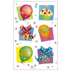 Írószerek - Iskolaszerek - Matricák - Szülinapos matricacsomag