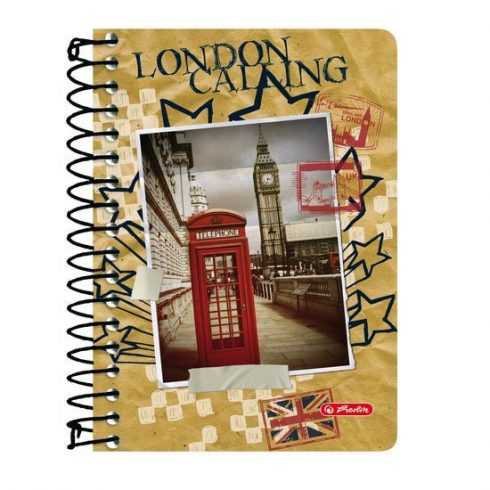 Írószerek - Iskolaszerek - Füzetek - Spirál Herlitz London kockás