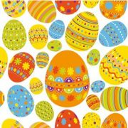 Terítés - Poharak, tányérok étkészletek zsúrokra - Húsvéti Szalvéta, 20db, Tojások