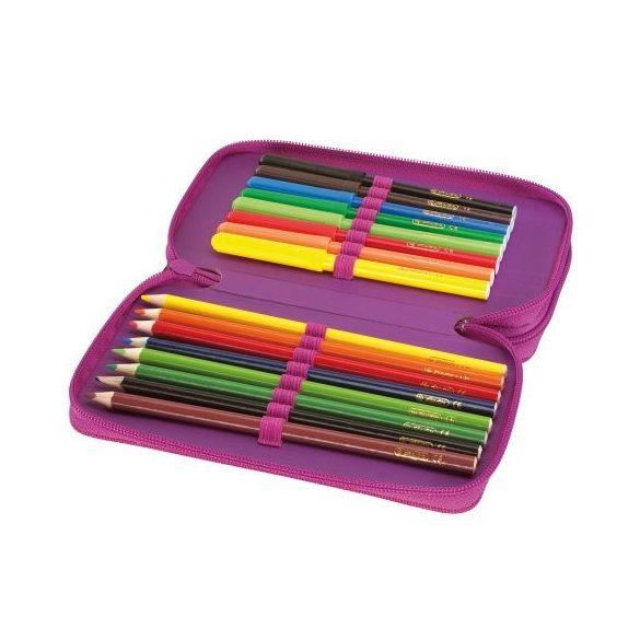 Írószerek - Iskolaszerek - Tolltartók - 23-részes Herlitz tolltartó