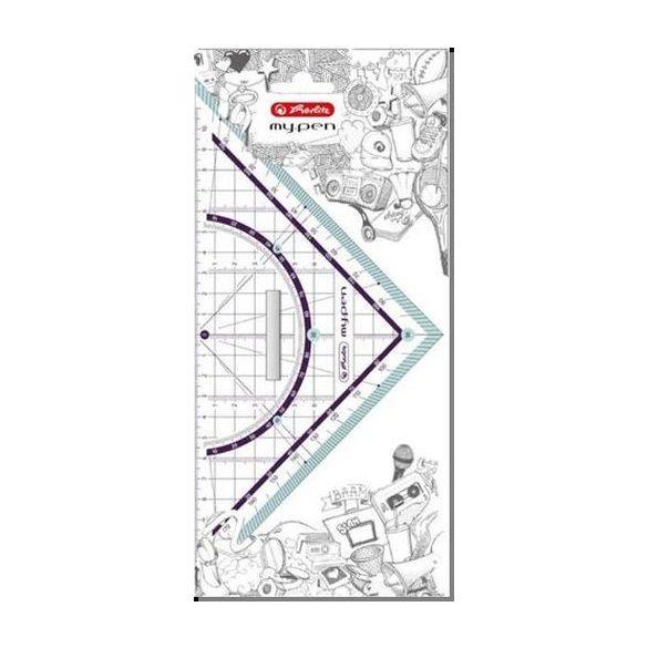 Írószerek - Iskolaszerek - Rajzeszközök - Geometriai háromszög-my pen- 25cm