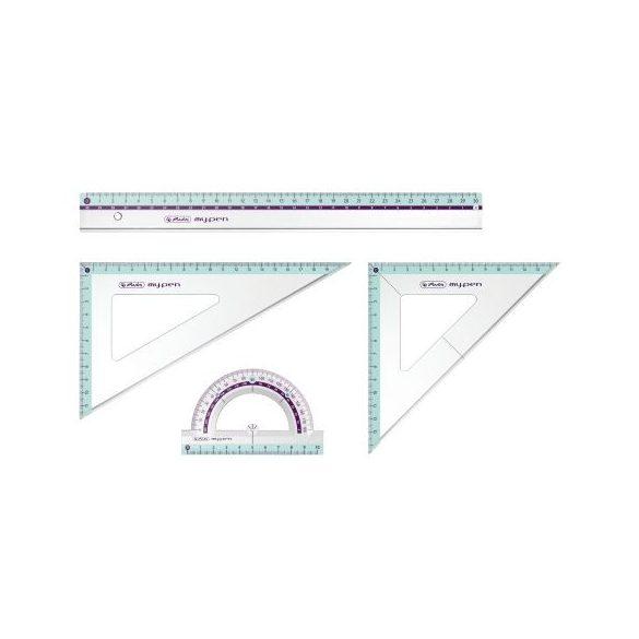 Írószerek - Iskolaszerek - Rajzeszközök - Geometriai szett Herlitz