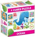 Gyerek Puzzle - Kirakósok - Mesekocka tengeri állatos 4 puzzle
