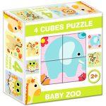 Gyerek Puzzle - Kirakósok - Mesekocka baby zoo 4 puzzle