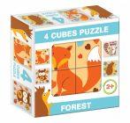 Gyerek Puzzle - Kirakósok - Mesekocka forest 4 puzzle