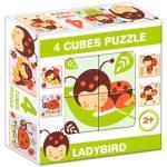 Puzzle kirakók - Mesekocka katicalány 4 puzzle