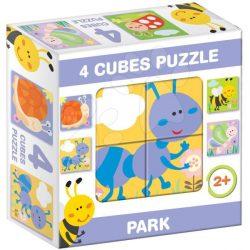 Gyerek Puzzle - Kirakósok - Mesekocka park 4 puzzle