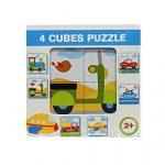 Gyerek Puzzle - Kirakósok - Mesekocka járműves 4 db-os