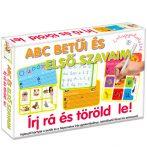 Készségfejlesztő játékok kisiskolásoknak - Írj rá és töröld le játékok - ABC betűi, és első szavaim