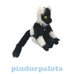 Plüss állat - Lemur, fekete-fehér