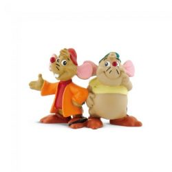 Mese figurák - Mese szereplők - Guszti és Jackie Hamupipőkéből műanyag játékfigura Bullyland