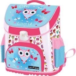 Iskolatáskák - Prémium iskolatáska, Lollipop Blue Owl