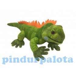 Plüss állatok - Plüss figurák - Plüss Iguana zöld fekvő 58cm