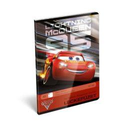 Füzetek - Tűzött füzet, A5, négyzethálós, Cars McQueen