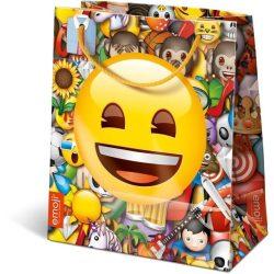Ajándék tasakok - Díszzacskók - Dísztasak Emoji Happy 12,5x7,5x14,5cm