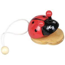 Hangszerek gyerekeknek - Kasztanyetta állatfigurás - katicás