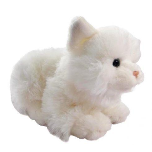Plüss cica - fehér - 20 cm - Plüss állat