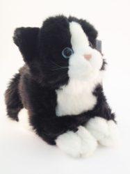 Plüss állatok - Fehér-fekete cica