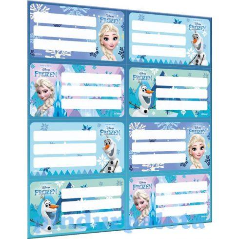 Iskolaszerek - Füzetcímke íves Frozen Mix