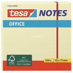 Papírblokkok - TESA Irodai jegyzettömb 100 lapos, sárga, 75x75