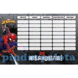 Iskolaeszközök - Órarendek - Órarend nagy Spider-Man Sling