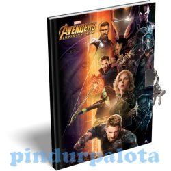 Füzetek - Emlékkönyv keményfedeles A/5 Avengers Infinity War Heroes