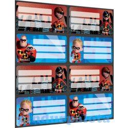 Füzetcímke - The Incredibles - Hihetetlen család füzetcímke