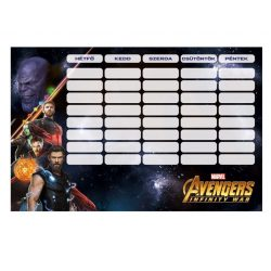 Iskolaszerek - Órarendek - Órarend Avengers Infinity War