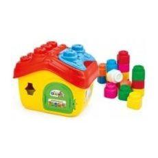 Építőjátékok kicsiknek - Clemmy építőelemek házikó alakú tárolódobozban