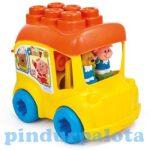 Clementoni Clemmy játékok - Clemmy puha építőjták iskolabusz