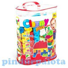 Játékok babáknak - Puha építőkockák - Clemmy 60 darabos készlet