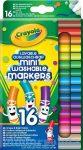 Írószerek - Crayola kimosható filctoll mini vastag 16 db