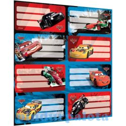 Iskolaszerek - Füzetcímke Cars íves