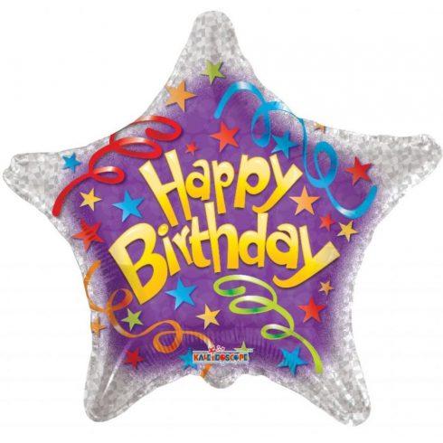 "Lufi fólia 18""""csillag Happy Birthday"""""